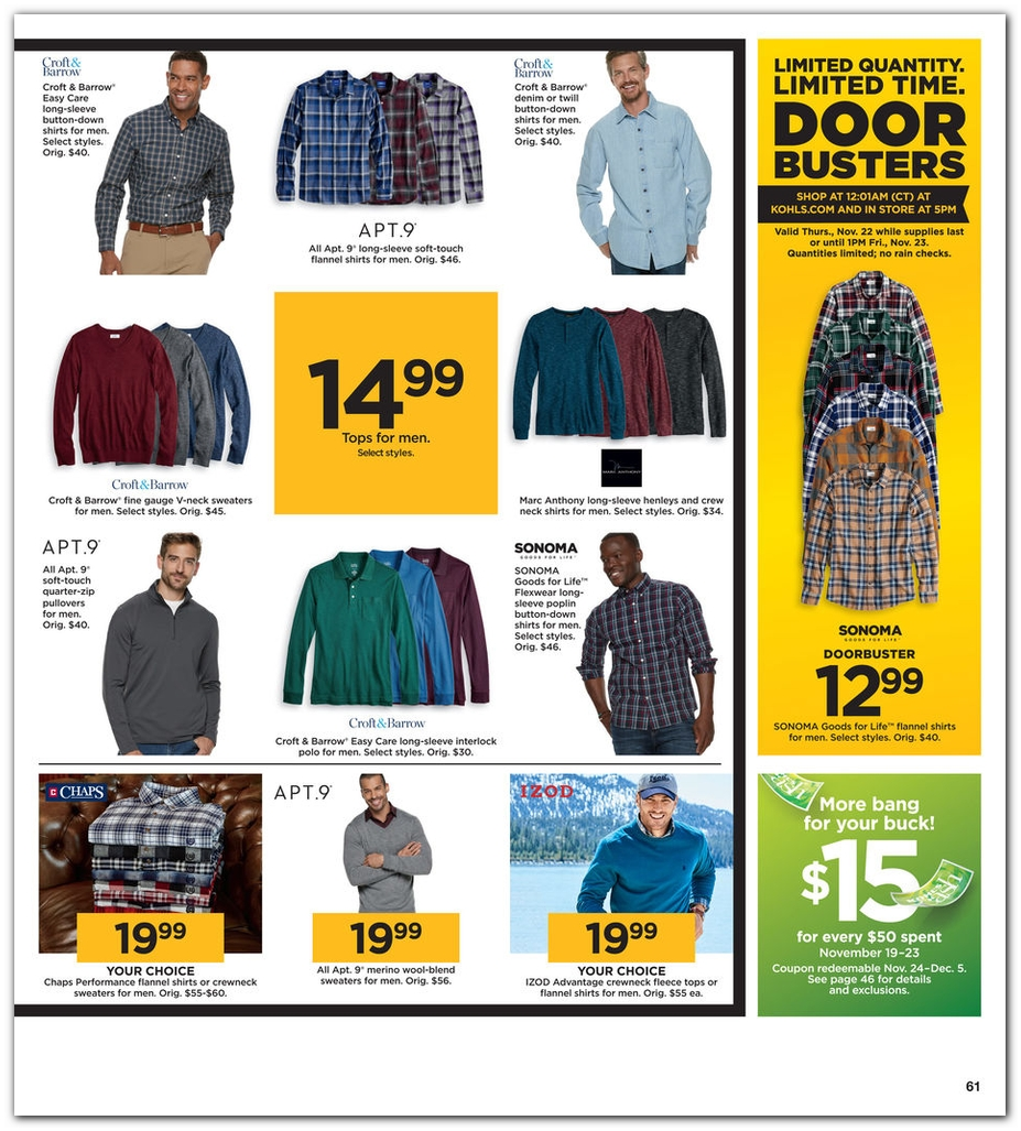 Kohls Black Friday page 61