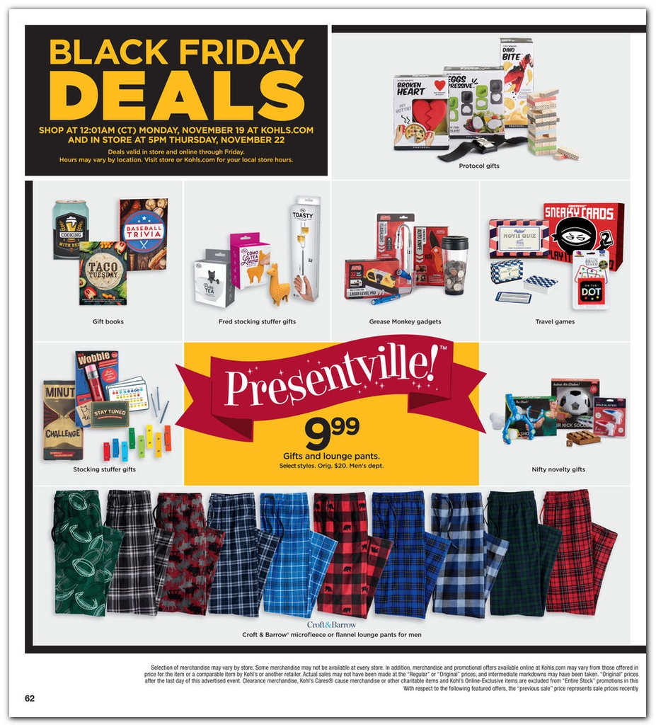 Kohls Black Friday page 62