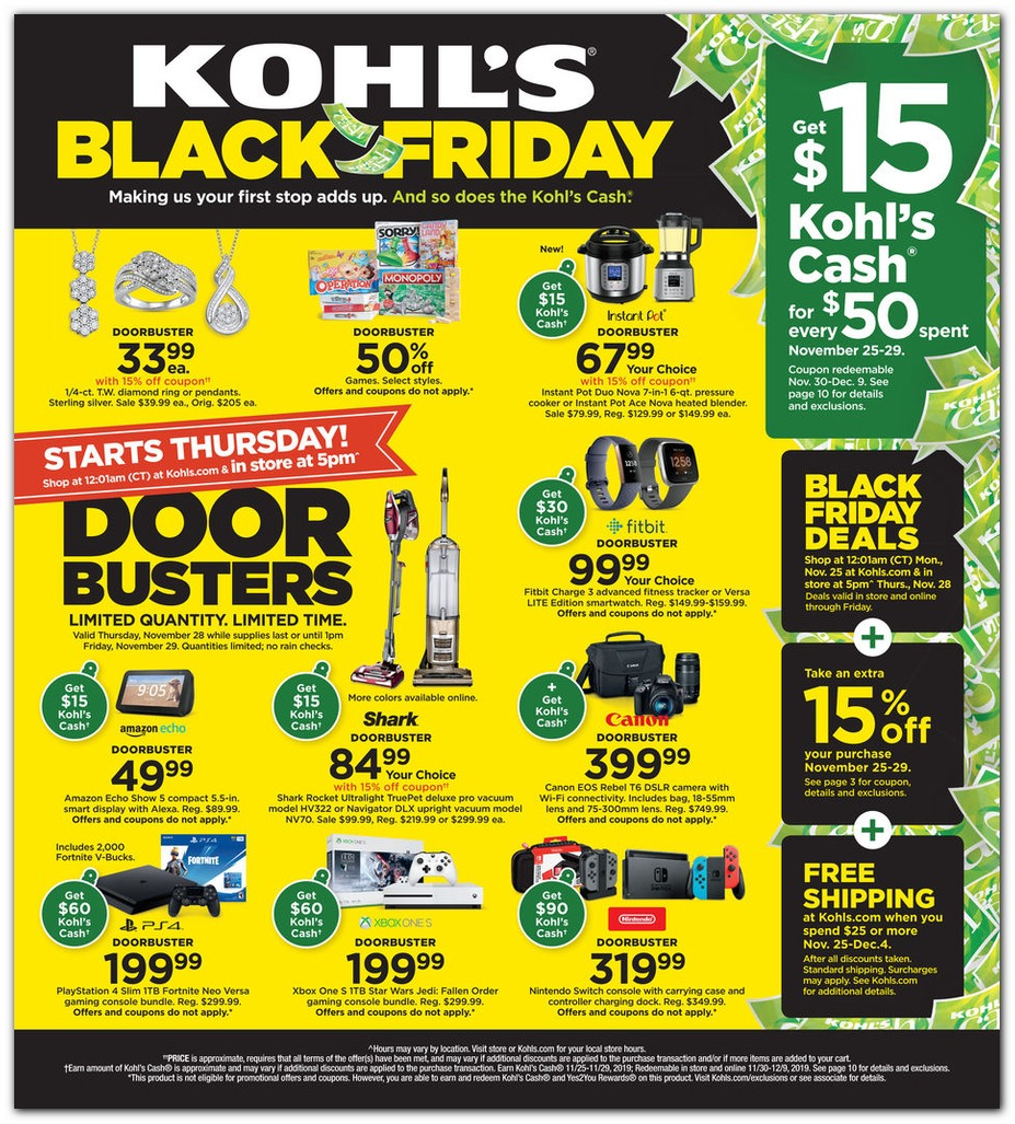 Kohls Black Friday page 1