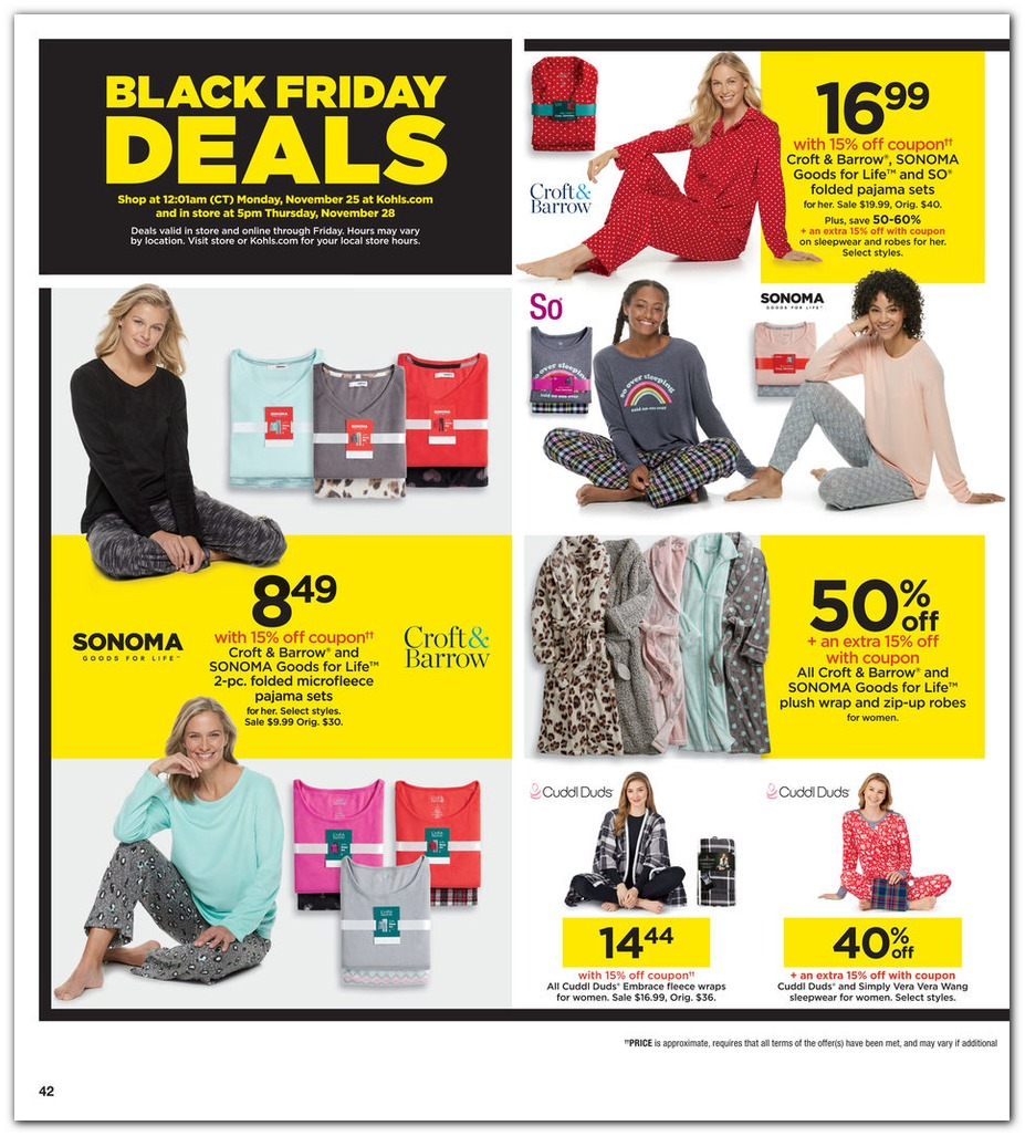Kohls Black Friday page 42